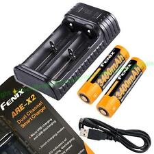 Fenix ARE-X2 Dual Channel Smart Micro USB Charger w/ 2 X ARB-L18-3400 18650 batt