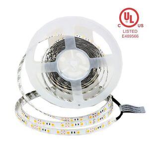 TECLED UL Listed 16ft. LED Tape/Strip Light Warm White 3000K 288x5050 12v 72W 5M