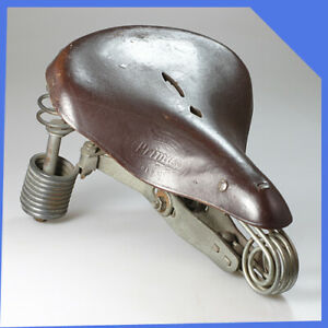 LEPPER PRIMUS Holland Brown Leather Bicycle Bike Sprung Suspension Saddle Seat