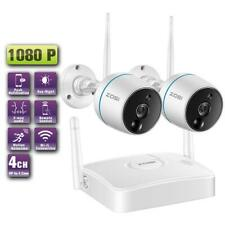 ZOSI 1080p 4CH Mini NVR 4 HD 2MP Outdoor WiFi IP Wireless Security Camera System