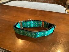 1.5 Wide Large/XL Martingale Dog Collar Peacock Design Whippet Greyhound NEW