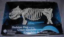 "NEW Halloween Life Sized Dog Skeleton with LED Light Up Eyes Scary Spooky 18"""
