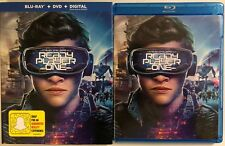 READY PLAYER ONE BLU RAY + DVD 2 DISC SET & SLIPCOVER SLEEVE FREE WORLD SHIPPING