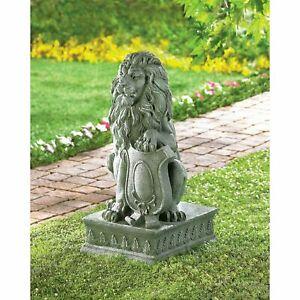 Regal Lion Statue Outdoor Guardian Driveway Entrance Garden Decor NEW FOR View