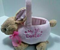 Dan Dee My 1st Easter Pink Basket Bunny Plush Vintage Baby Girl