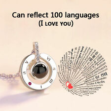 100 Languages Light I Love You Projection Pendant Necklace Jewelry Silver TikTok