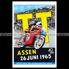 #phpb.001383 Photo DUTCH TT ASSEN GRAND PRIX 1965 MOTORCYCLE A4 Poster Reprint
