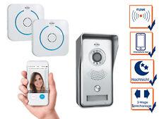 Sprechanlage mit 2 Funkklingeln für Smartphone, Gegensprechanlage 1 Familienhaus