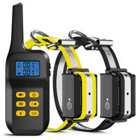 1000M Auto Remote Rechargeable Dog Shock Collar Waterproof Pet Training