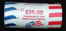 "2009 D William Harrison Presidential ""Unopened"" Mint Dollar 25 Coin ROLL"