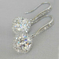 Sunshine 925 Silver Drop Earrings for Women White Sapphire Jewelry A Pair/set