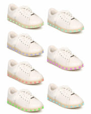New Women Forever Signal-69 Leatherette Lace Up Light Up Chargeable Sneaker