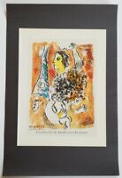 Chagall Offering to The Eiffel Tower Mourlot  Poster Lithograph 9.5 x 12.5 1975