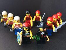 Lego Lot Of 10 Pirates Mini Figures Pirate Soldier Figures Queen Captain New