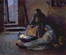 Geri Melchers The Nativity Quality Giclee Print on Proprietary Canvas Paper