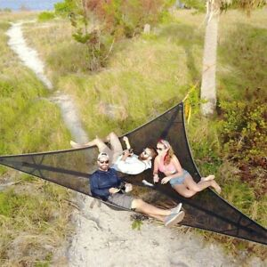 Portable Hammock Multi-functional Triangle Aerial Mat Convenient Camping Sleep