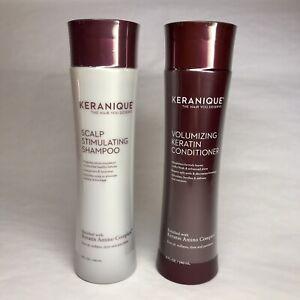 Set Keranique Scalp Stimulating Shampoo & Volumizing Keratin Conditioner SEALED