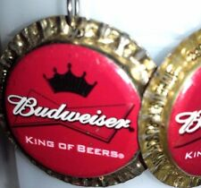 New Budweiser Beer Bottle Cap Earrings Handmade