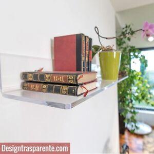 Mensola in plexiglass trasparente alto spessore - varie misure