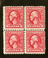US Stamps # 528B 2c Washington Block F+ OG N
