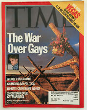 Time Magazine October 26, 1998 The War Over Gays