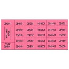 Chinese Auction/Penny Social Tickets Pink 500 Sheets of 25 Numbers (GM-17-CHINA)