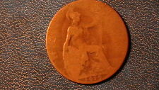 1919  GREAT BRITAIN 1/2 Half Penny Coin King George V   372A9