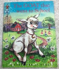 Vintage The Goat That Went to School 1952 Tip Top Elf Book Sally R Francis