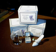 PHB Bell, Shoe, and Ring Box Wedding and I Do Series Porcelain Hinged Boxes