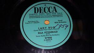 """ELLA FITZGERALD Baby Doll / Lady Bug PROMO 10"""" 78 Decca 27900 Sonny Burke"""