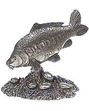 SPECCHIO Carpa Peltro Statuetta Fermacarte Ornamento 3D codemedr 3 angolo di Pesca Pesce