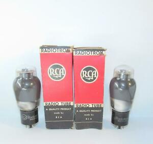 NOS/NIB Matched Pair(Gm/plate current) RCA 6L6G amplifier tubes.TV-7 test NOS.