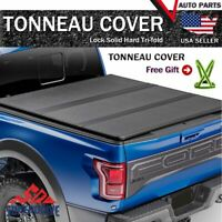 Fits 2004-2020 Ford F-150 5.5ft Short Bed Lock Solid Hard Tri-Fold Tonneau Cover