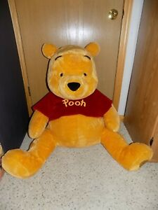 Rare Large 28 in Disney Store 80 Years of Adventure Winnie The Pooh Plush Figure