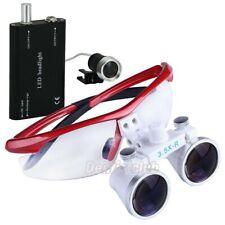 Dental Surgical Medical Binocular Loupes Magnifier 35x R Led Light Head Lamp