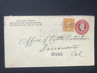 1921 Miller & Lux Inc. Buttonwillow, Kern Co. Ad Registered Cover. To Sacramento