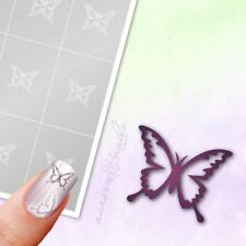 Schablonen für Airbrush und Nailart SVG34 Butterfly Schmetterling Fliege 80x
