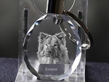 Eurasier, Dog Crystal Round Keyring, High Quality, Crystal Animals Usa