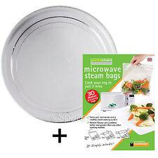 Smooth vetro piatto giradischi piatto in per ZANUSSI FORNO A MICROONDE valvole + sacchetti a vapore