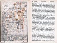 La Granja 1908 peq. mapa orig. + guía fr. (2 p.) Parador Real Palacio El Mar