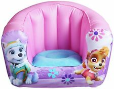 Paw Patrol Pink Inflatable Chair Extra Comfort Flocked Seat - 18m+ Everest Skye