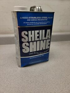 (1 Gallon) Sheila Shine Stainless Steel Cleaner & Polish USA Made Dented Can
