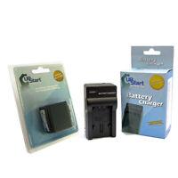 Battery + Charger for Panasonic SDR H85, HDC TM80, HDC TM60, SDR T55, HC V100M