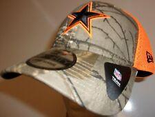 New Era 39Thirty Dallas Cowboys Cap Hat Men's L/XL flex fit mesh neo orange camo