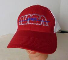 NASA Logo Embroidered Velcroback Mesh Back Baseball Cap Trucker Hat Red