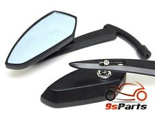 BLACK BLADE REARVIEW MIRRORS FOR HONDA MOTORCYCLE CRUISER SCOOTER SHADOW REBEL