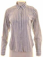 CREW CLOTHING Womens Shirt Size 12 Medium Multicoloured Striped Cotton  AB09