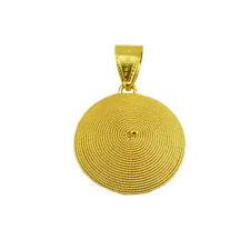 Pendente ciondolo corbula in oro giallo realizzato a mano artigianato sardo