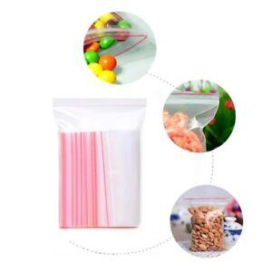 Clear Plastic Poly Grip Self Seal Resealable Zip Lock Mini Bags Jewellery 100pcs