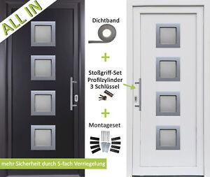 kuporta Kunststoff HAUSTÜR anthrazit / weiß Nebeneingangstür Kellertür Außentür